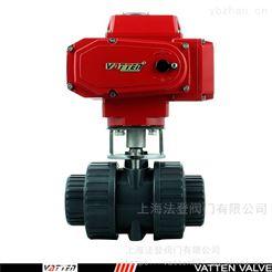 Q691F电动开关型塑料球阀 UPVC电动双由令价格