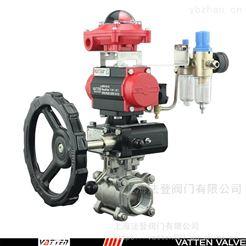 VATTEN气动螺纹三片式球阀 排气阀适用工况