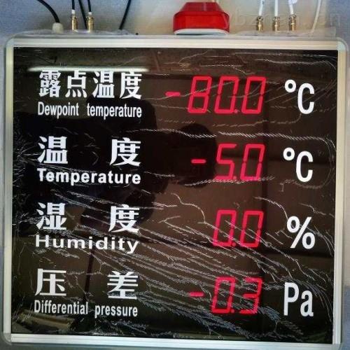 注液车间大屏露点温湿度测试仪