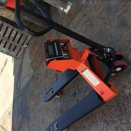 scs-YHF3吨带电子秤的搬运车 3t液压电子叉车磅秤