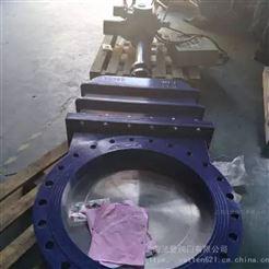 VATTEN电动大口径工业插板阀 不锈钢化工电动闸阀