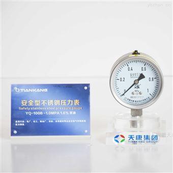 YBN-100不锈钢压力表耐震表