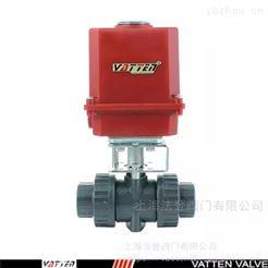 Q691F电动活接塑料球阀使用寿命 进口PVC电动球阀