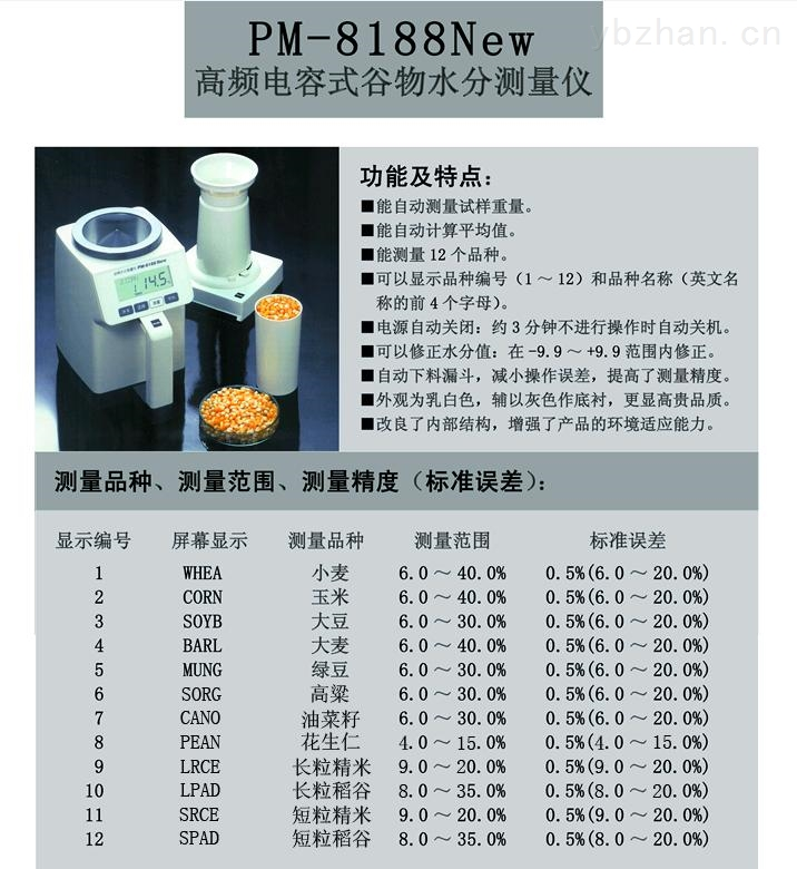 PM-8188,PM8188,PM-8188NEW,PM8188NEW,PM8188A,PM-8188A,PM-8188-A,水分仪,粮食水分仪