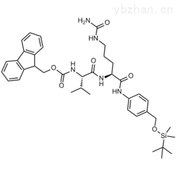 (9H-Fluoren-9-yl)methyl ((S)-1-(((S)-1-((4-(((tert-butyldimethylsilyl)oxy)methyl)phenyl)amino)-1-...