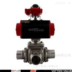 VT2DDB33A气动三通焊接换向阀 气动焊接三通球阀价格