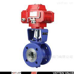 VQ941F电动V型衬胶球阀 电动V型软密封料浆阀