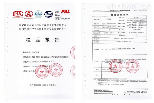 铁芯夹件电流监测检验报告.png