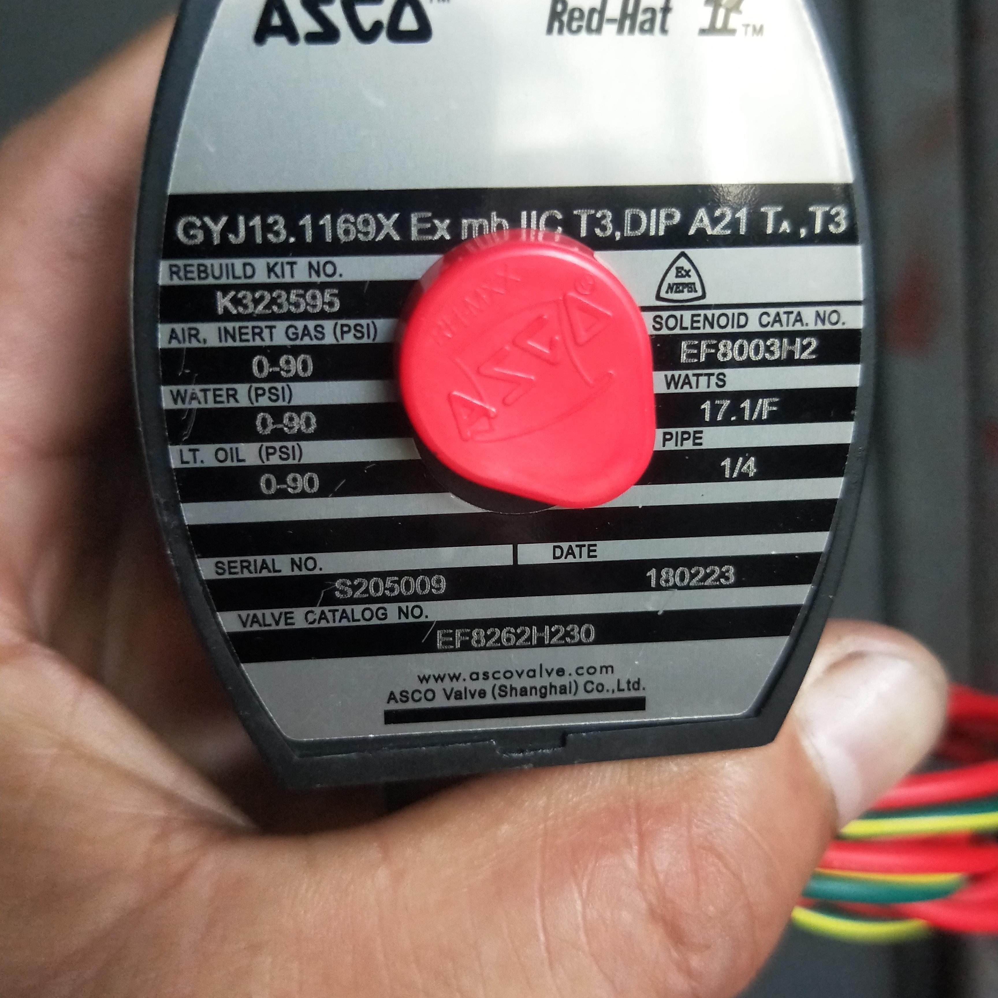 8262系列ASCO电磁阀产品特点EF8262H148
