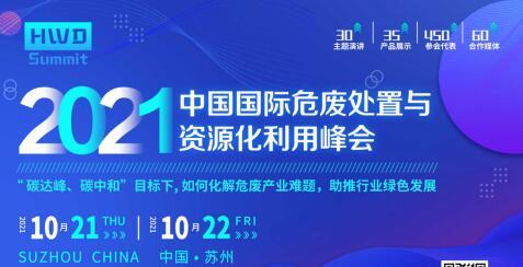 2021中國國際危廢處置與資源化利用峰會與您共同解析行業政策!
