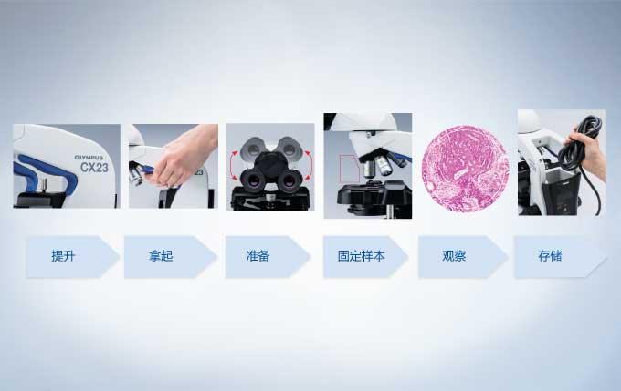 奥林巴斯CX23生物显微镜操作步骤