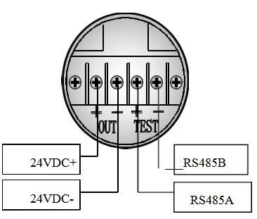 一体化温度变送器的电气接线图